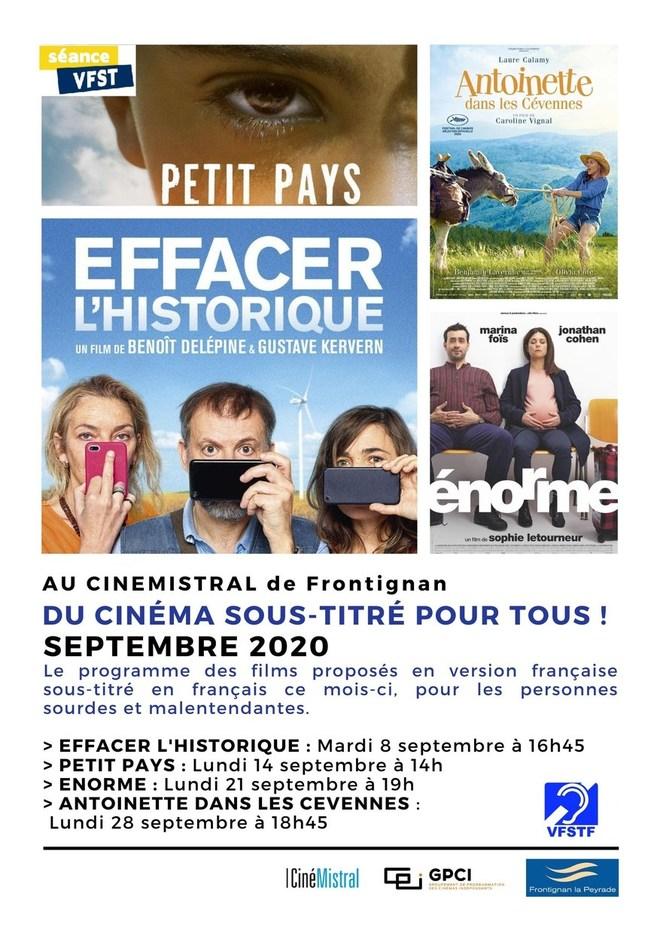 Du cinéma sous-titré - Septembre 2020