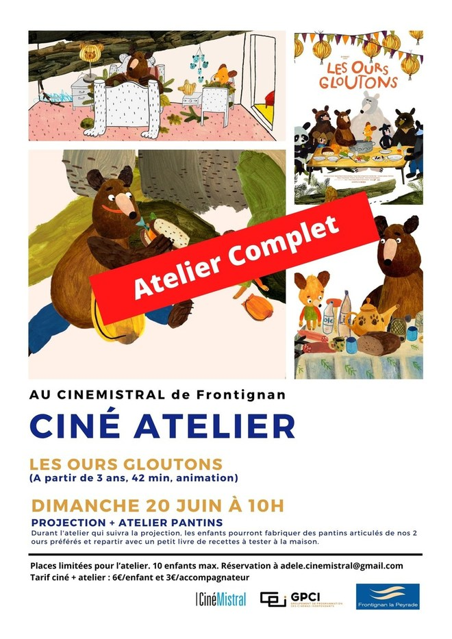 CINE ATELIER - Les Ours Gloutons