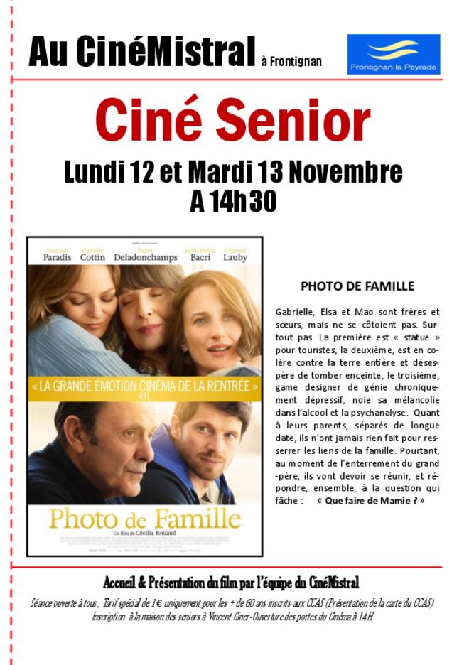 CINE SENIOR - Séance de Novembre
