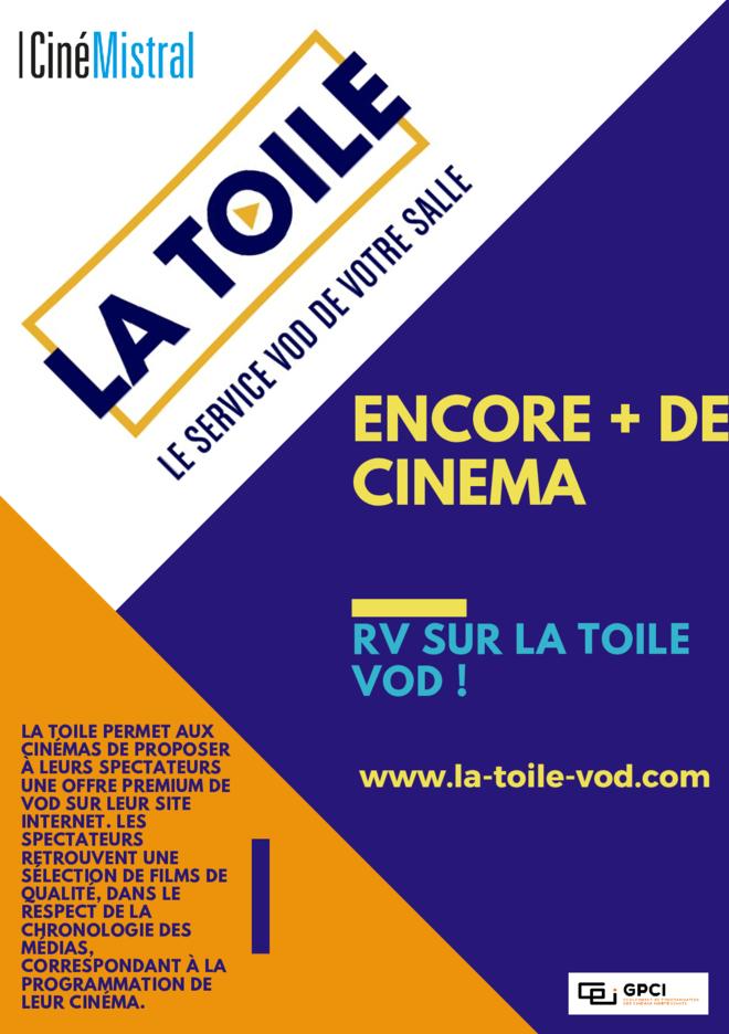 DU CINEMA A LA MAISON : La toile, le site de VOD coup de coeur du CinéMistral