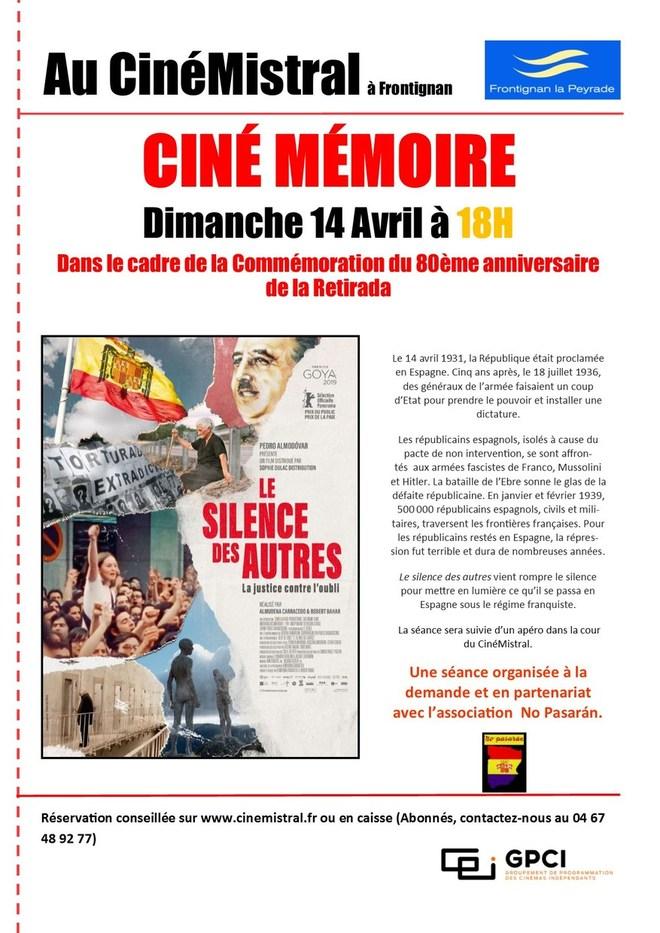 CINÉ MÉMOIRE - Commémoration du 80ème anniversaire de la Retirada en Occitanie