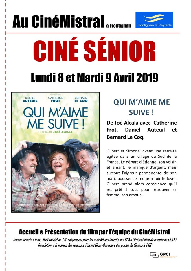 CINÉ SENIOR AVRIL 2019