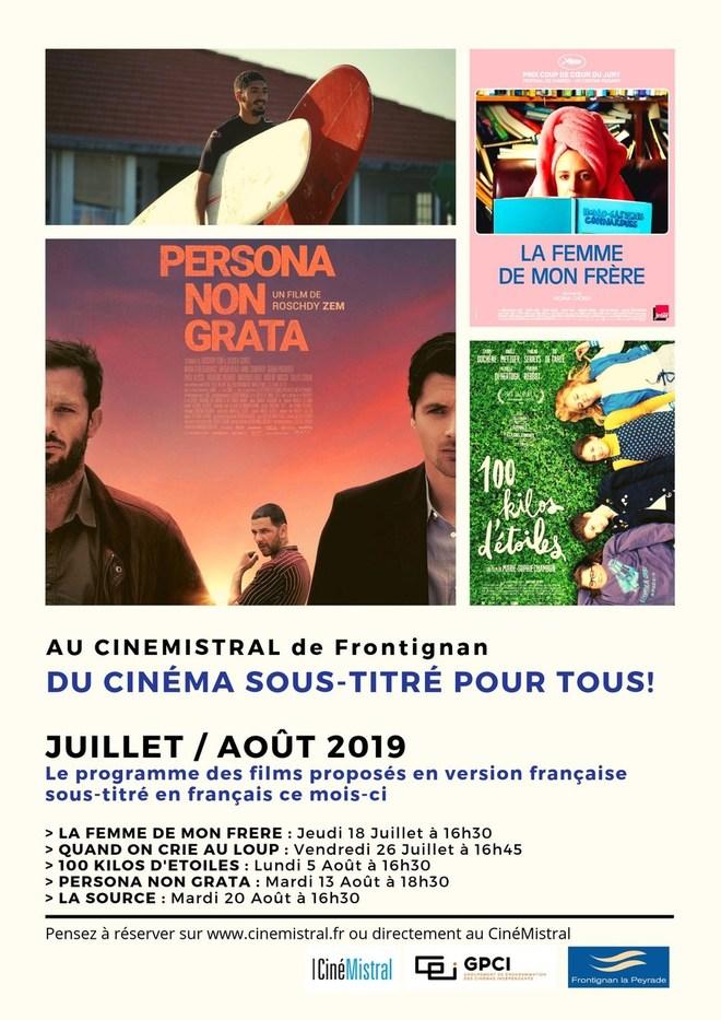 Les séances de cinéma en français et sous-titrées français pour les sourds et malentendants !