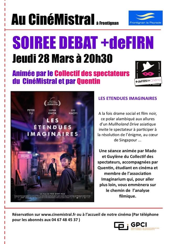 SOIRÉE DÉBAT DU COLLECTIF DES SPECTATEUR / SÉANCE +deFIRN CINÉMA