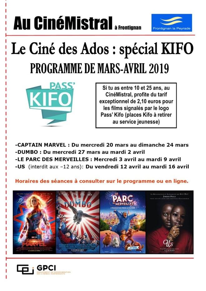 LES FILMS KIFO MARS-AVRIL 2019