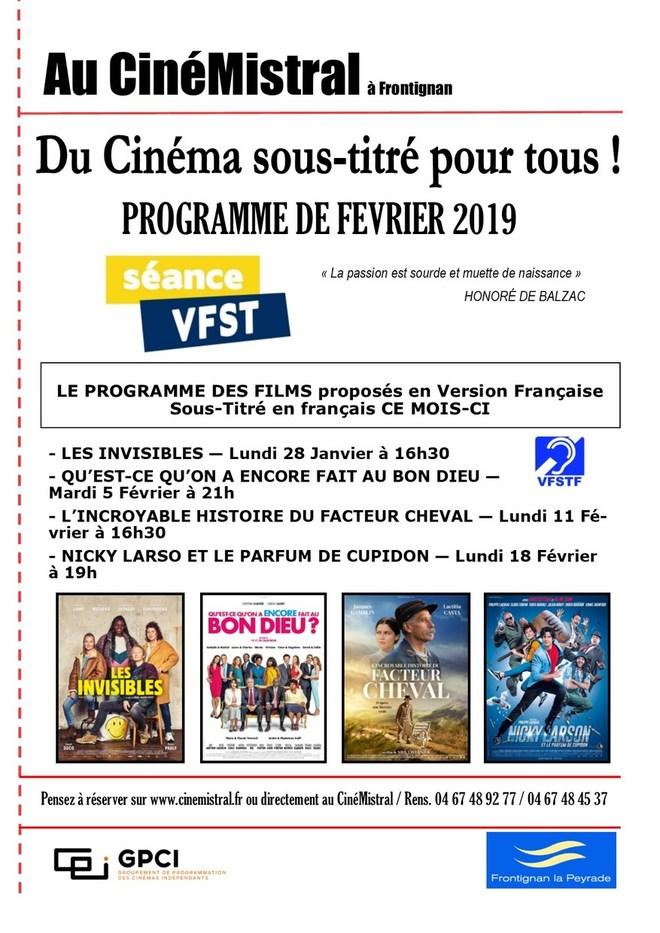 Séances de cinéma en français et sous-titrées français pour les sourds et malentendants !
