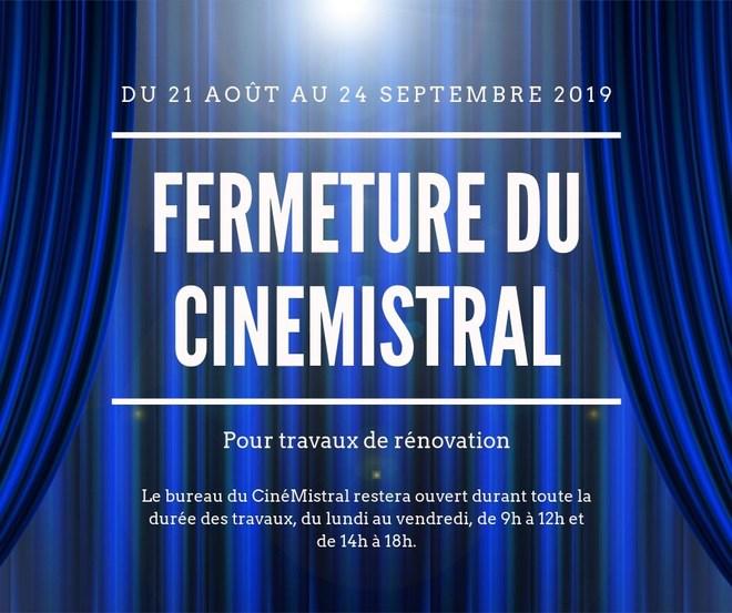 Fermeture du CinéMistral pour rénovation