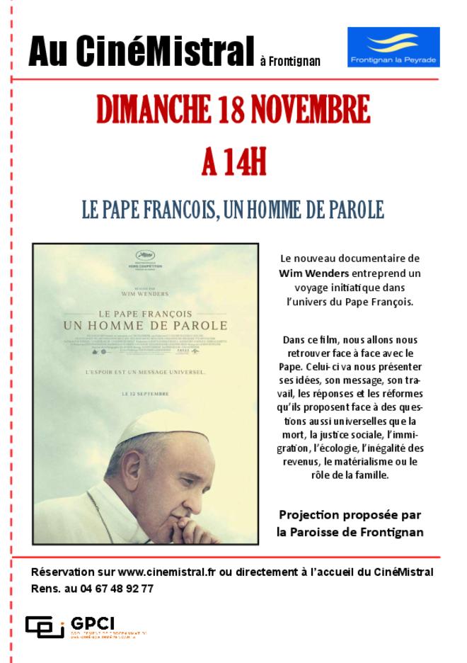 Séance unique LE PAPE FRANCOIS